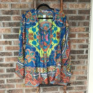 Johnny Was Multicolored Tunic - Size XL